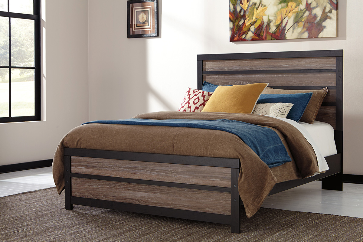 Signature leather bedroom set bed